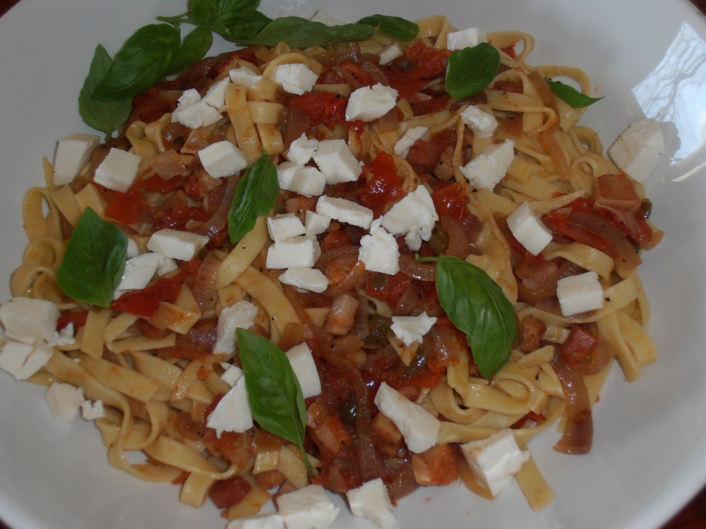 Fettuccine Amatriciana (with homemade fettuccine) (3/3)
